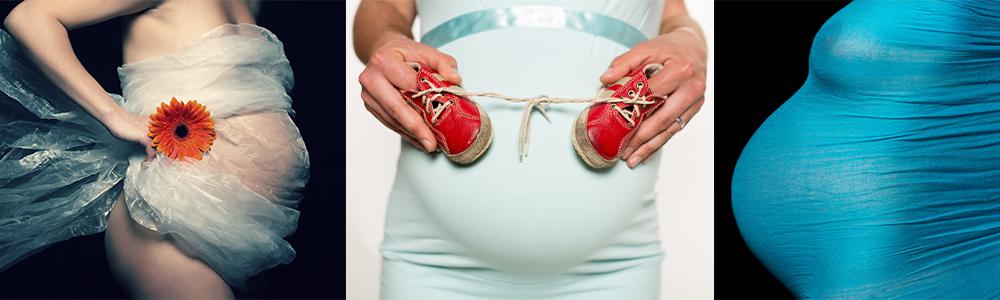 těhotenské foto - atelier